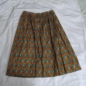 J Crew Ratti Elephant Print A Line Skirt Size 10